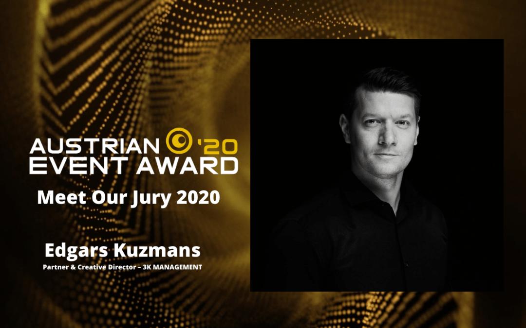 Die Jury-Mitglieder des Austrian Event Awards im Gespräch: Edgars Kuzmans