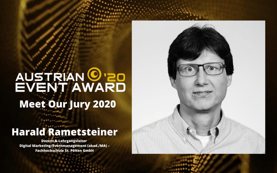 Die Jury-Mitglieder des Austrian Event Awards im Gespräch: Harald Rametsteiner