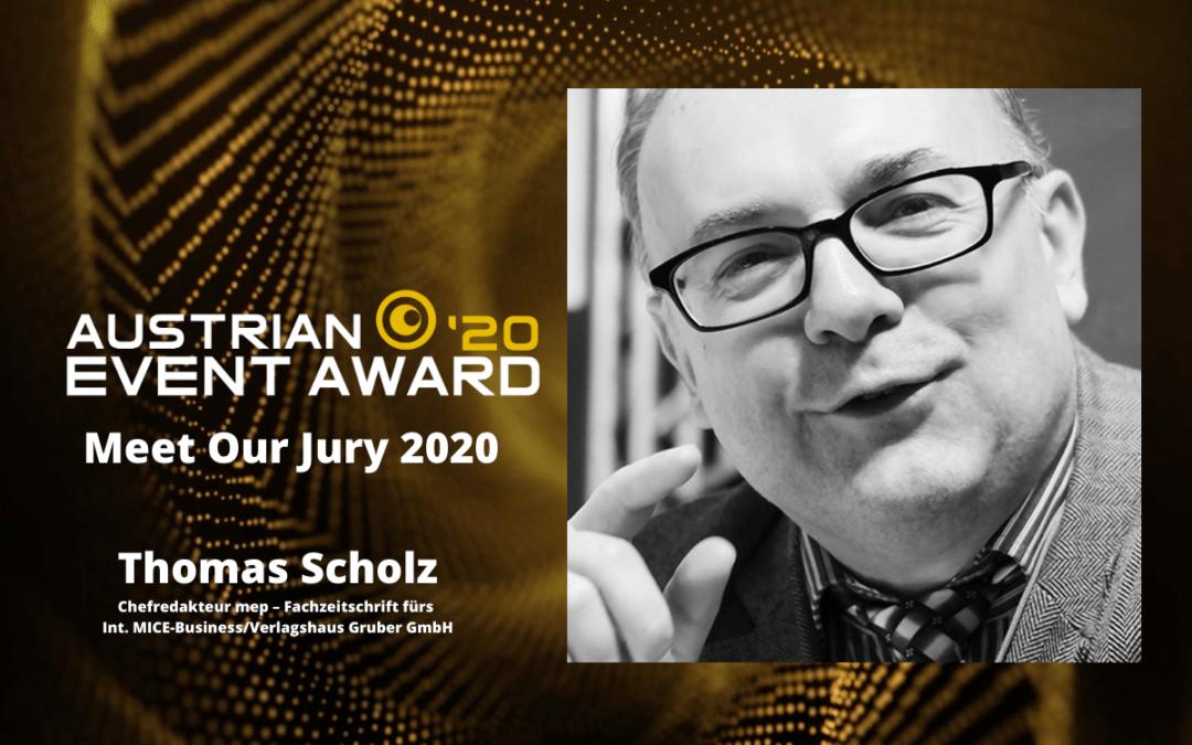 Die Jury-Mitglieder des Austrian Event Awards im Gespräch: Thomas Scholz