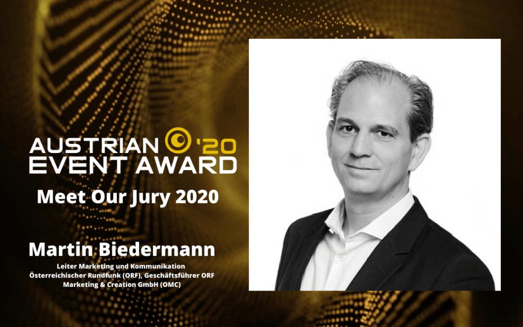 Die Jury-Mitglieder des Austrian Event Awards im Gespräch: Martin Biedermann