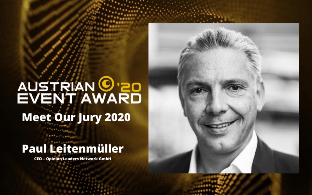 Die Jury-Mitglieder des Austrian Event Awards im Gespräch: Paul Leitenmüller